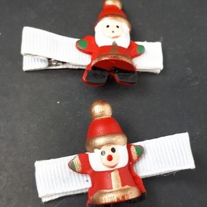 Other - ⬇️Handmade Kiddie Clips - Jolly Santa Claus